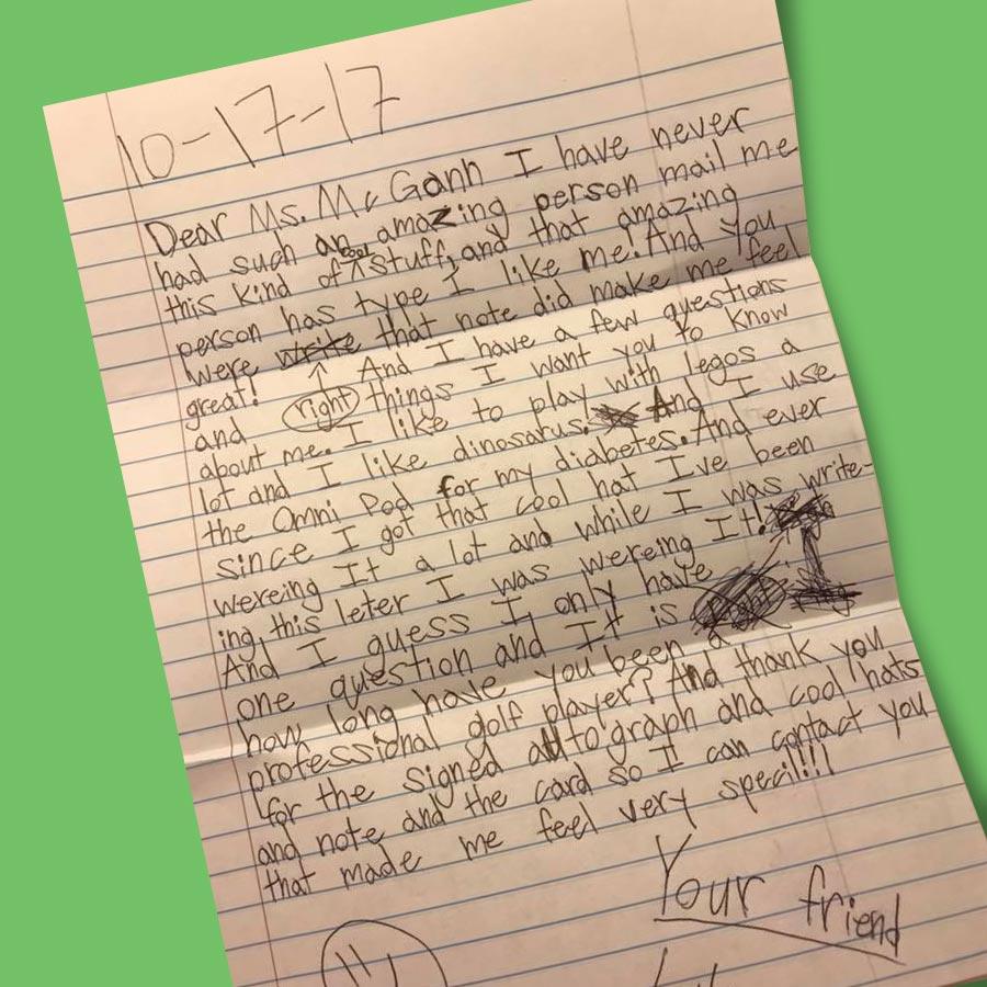 Letter from Luke